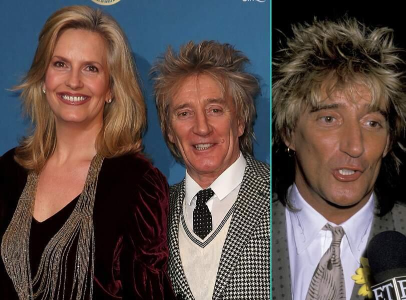 Rod Stewart aujourd'hui à 71 ans et à 44 ans, l'âge actuel de sa femme Penny Lancaster