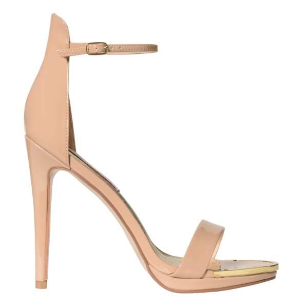 Caroline Receveur x Morgan : sandales nude, 69 euros