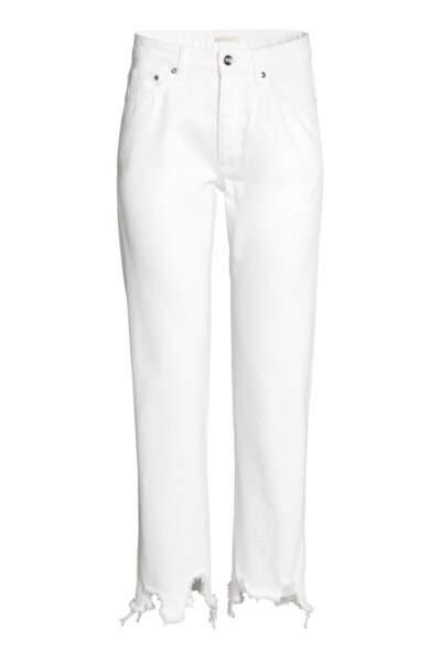 Straight regular jeans blanc, H&M, 24,99 euros au lieu de 49,99 euros