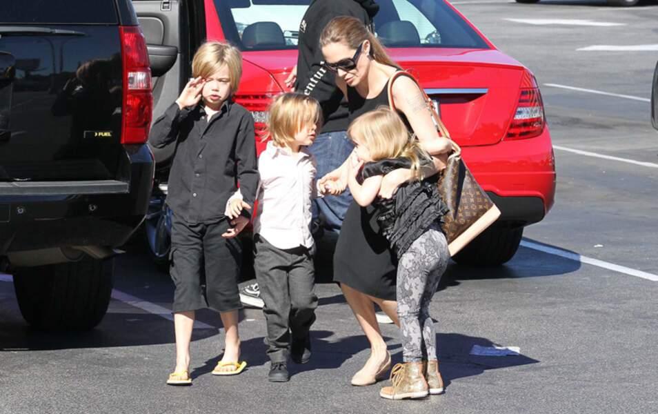 Shiloh, Knox, Angelina Jolie et Vivienne Jolie-Pitt