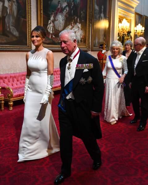Prince Charles et Melania Trump au banquet d'Etat organisé à Buckingham Palace
