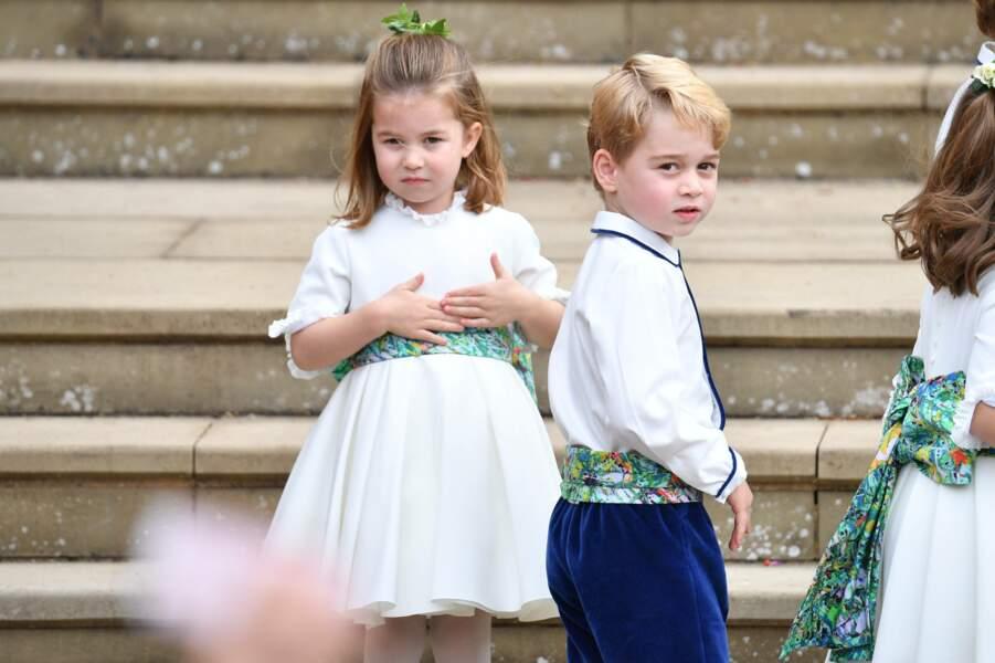 La princesse Charlotte et le prince George au mariage de la princesse Eugenie et Jack Brooksbank