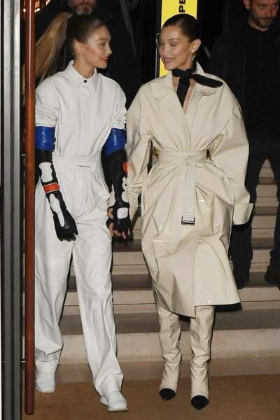 Bella et Gigi Hadid dans Paris