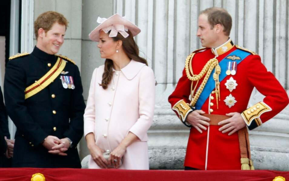 Le prince Harry, Kate Middleton et le prince William