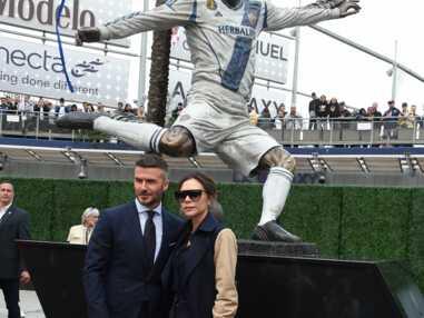 VOICI David Beckham radieux aux côtés de ses proches pour l'inauguration de sa statue