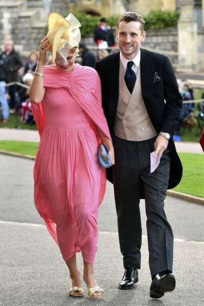 Pixie Geldof et George Barnett au mariage de la princesse Eugenie et Jack Brooksbank
