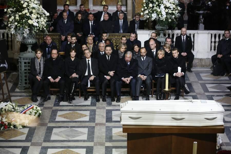 Les politiques présents lors de l'hommage à Johnny Hallyday