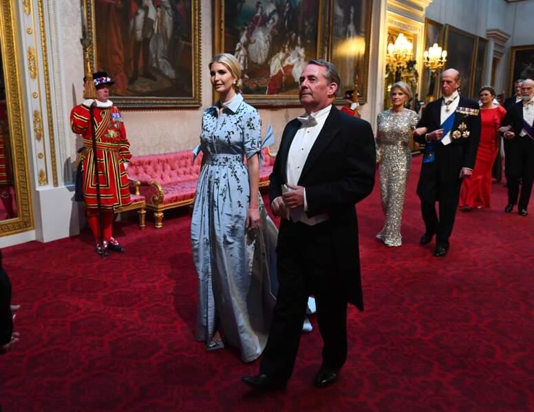 Ivanka Trump et Liam Fox au banquet d'Etat organisé à Buckingham Palace