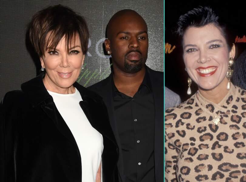 Kris Jenner aujourd'hui à 60 ans et à 35 ans, l'âge actuel de son compagnon Corey Gamble