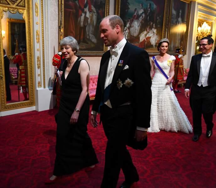 Prince William et Theresa May au banquet d'Etat organisé à Buckingham Palace