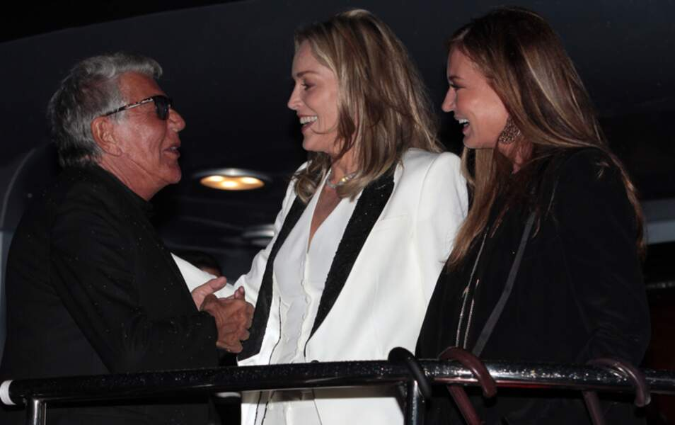 Roberto Cavalli et Sharon Stone
