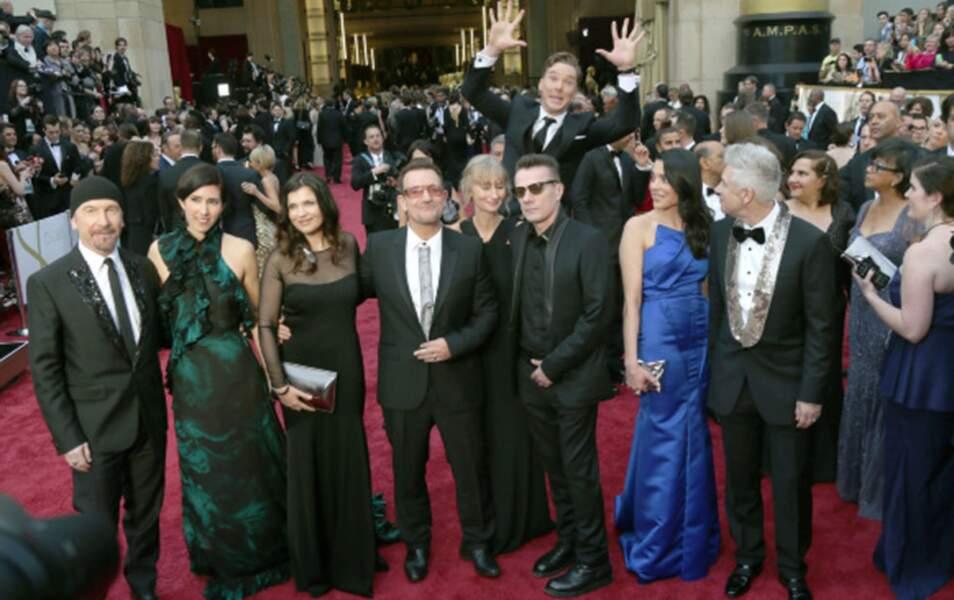 Le saut de l'ange de Benedict Cumberbatch au-dessus de U2