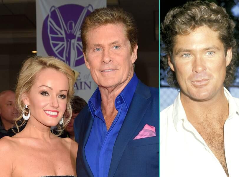 David Hasselhoff aujourd'hui à 62 ans et à 32 ans, l'âge actuel de sa compagne Hayley Roberts