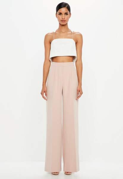 Pantalon ample rose peace + love, Missguided, 75 euros