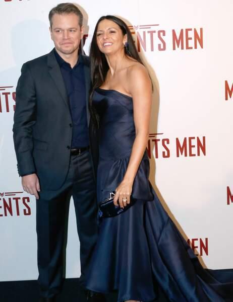 Matt Damon a lâché ses potes pour poser avec sa femme Luciana