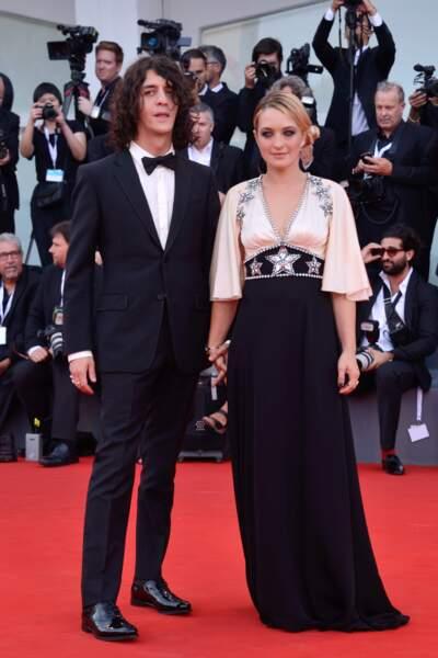 Carolina Crescentini et Francesco Motta à la 75e Mostra de Venise, le 29 août 2018