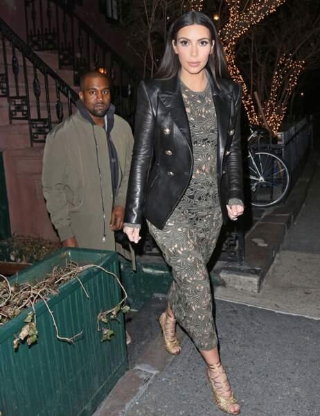Kim et Kanye viennent de dîner avec Anna Wintour au Waverly Inn de New York