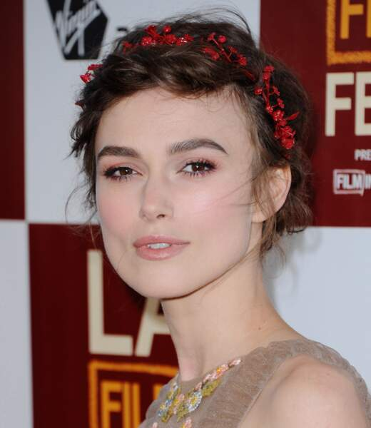 10 coiffures pour cheveux courts - Keira Knightley