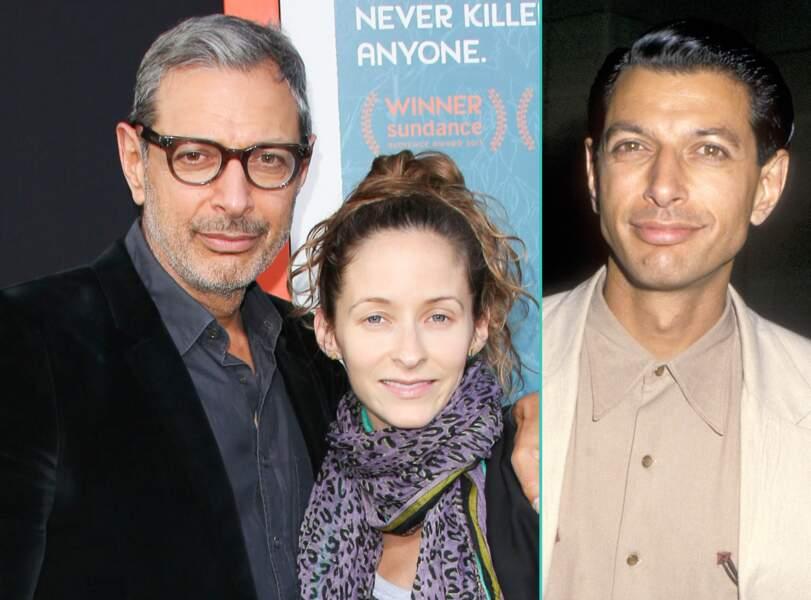 Jeff Goldblum aujourd'hui à 63 ans et à 33 ans, l'âge actuel de sa femme Emilie Livingston