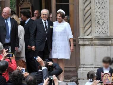 Macha Méril et Michel Legrand bien entourés pour leur mariage à l'église