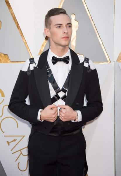 Adam Rippon à la 90e cérémonie des Oscars, en 2018