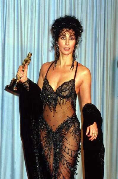 Cher à la 60e cérémonie des Oscars en 1988