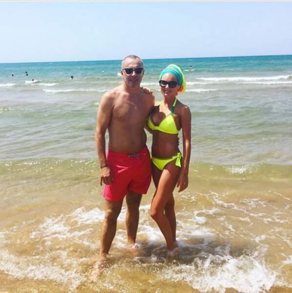 Fiona et son papa en vacances