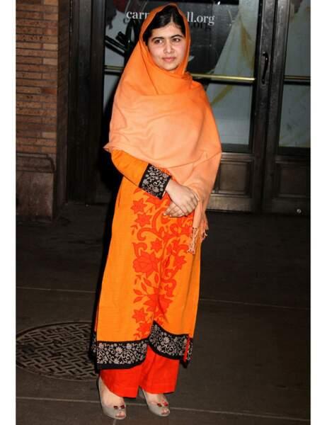La Pakistanaise de 16 ans, Malala, honorée lors de la soirée