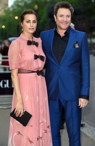 Ces fils et filles de stars qui défilent pour les créateurs - Yasmin et Simon Le Bon, le chanteur de Duran Duran