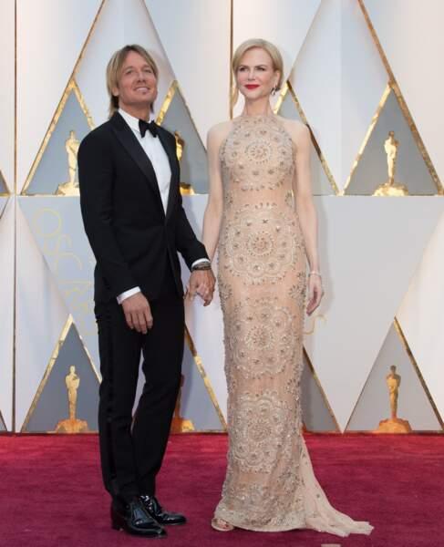 Les plus beaux couples des Oscars 2017 : Keith Urban et Nicole Kidman