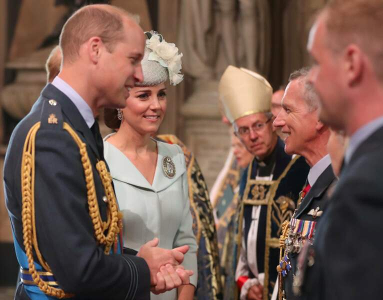 Le prince William et Kate Middleton au centenaire de la Royal Air Force, à Londres