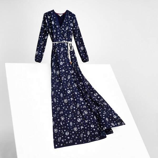 Tommy Hilfiger x Gigi Hadid robe longue imprimée en soie  349 euros