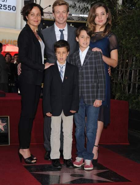 Simon Baker était venu avec sa famille