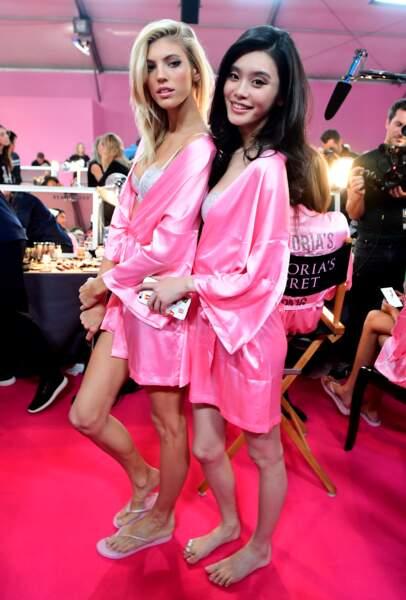 Défilé Victoria's Secret 2016 : Devon Windsor et Liu Wen complices
