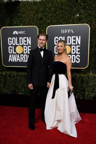 76ème cérémonie des Golden Globes : Karl Cook et Kaley Cuoco