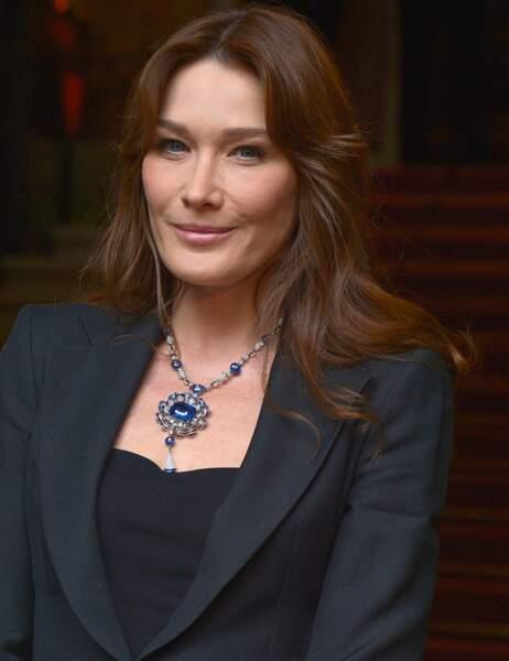 Carla Bruni avait opté pour la parure saphir de Bulgari