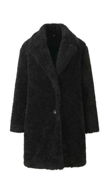 Manteau en fausse fourrure, Uniqlo, 39,90€