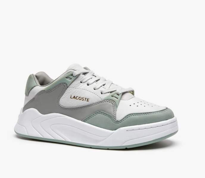 Sneakers Court Slam femme en cuir, Lacoste, 115euros