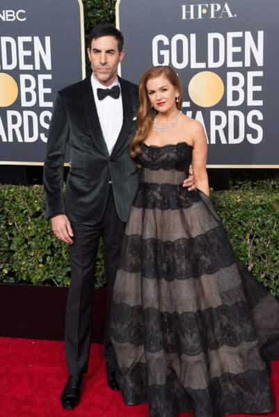76ème cérémonie des Golden Globes : Sacha Baron Cohen et Isla Fisher