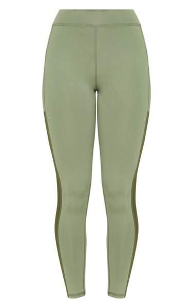 Legging de sport kaki PLT, Prettylittlethings, 24,30 euros