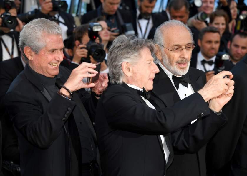 Cannes - Montée des Marches pour le 70ème anniversaire : Claude Lelouch, Roman Polanski & Jerry Schatzberg