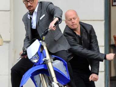 Tournage de Red 2 avec Bruce Willis à Paris