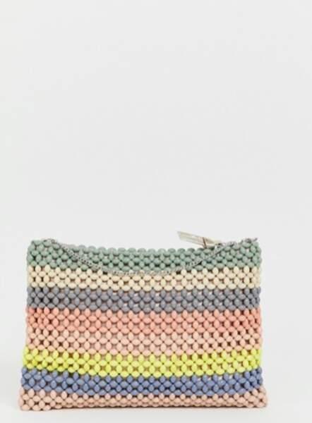 Pochette en perles de résine avec bandoulière, Accessorize, 53,99€