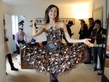 Marie-Ange Casalta, Aïda Touihri et Sophie Thalmann: leurs essais de robe en chocolat