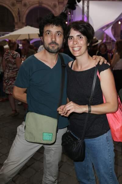 L'auteur-compositeur Albin de la Simone et sa femme
