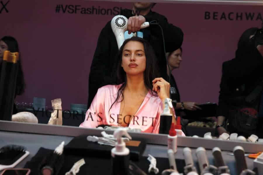 Irina Shayk en pleins préparatifs pour le show Victoria's Secret à Paris