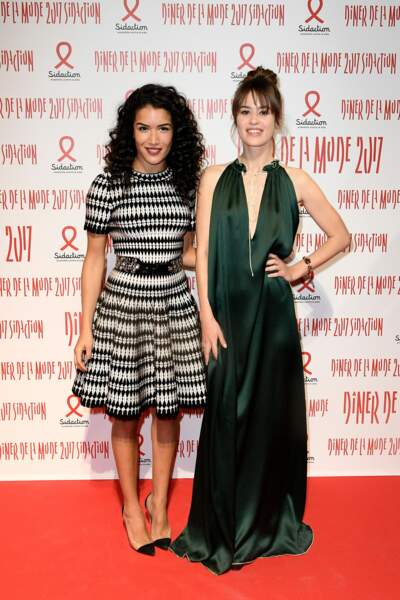 Dîner du Sidaction 2017 : Sabrina Ouazani et Alice David