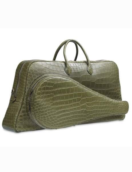 Hermès célèbre les 80 and de Lacoste. Sac de tennis en crocodile
