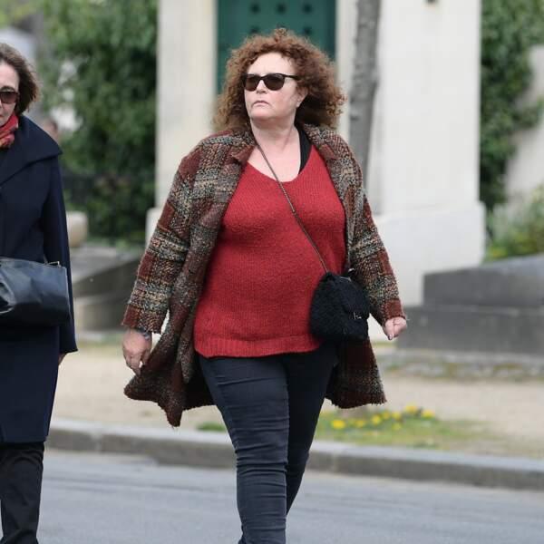 Valérie Mairesse aux obsèques d'Agnès Varda au cimetière du Montparnasse