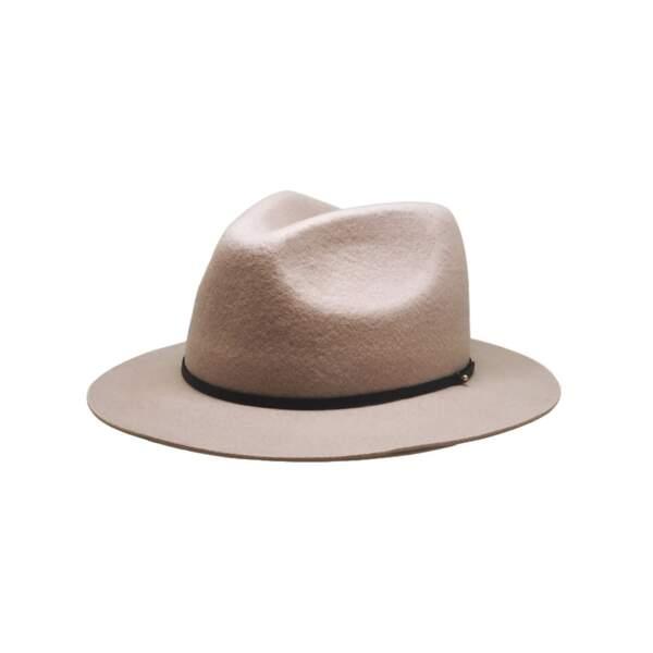 Chapeau Fedora en feutrine de laine Byron, Simone Headwear, 69€